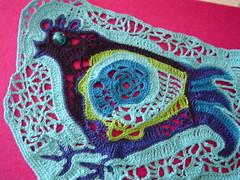 WIP (saraaires (quartodeideias)) Tags: blue chicken azul galinha crafts crochet artesanato bleu blau hen portuguese freeform