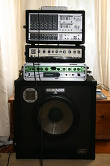 the latest stack (john durrant) Tags: cone bass echo pa speaker behringer alluminium 1x15 harmoniser 450watt