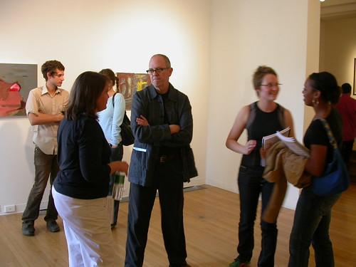 Frank Bramblett, center, at opening