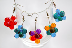 bubbles earings (::smyii::) Tags: earings beads colorful handmade plastic bubble earing