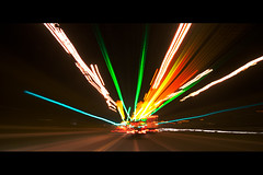 car lights (Ragorder.com (Mark Stanley)) Tags: longexposure cars car lights traffic exhib nightlight dashboard streaks yourfaves instantfave canon1785mm canon400d markstanley newchemical