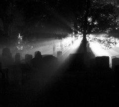 Beyond (BehindBlueEyes) Tags: light bw night newjersey cemetary nj princeton mercercounty princetoncemetary blackribbonbeauty bwartaward