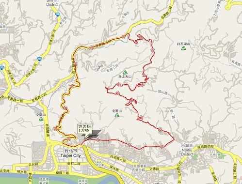 Trail - CW碧山營地 2007-12-1路線圖