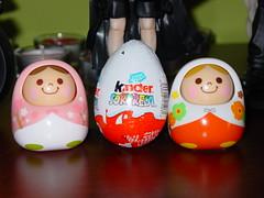 They arrived, Unazukin dolls (Baccarita) Tags: flower cute toy doll no yes egg kinder kawaii huevo bandai unazukin