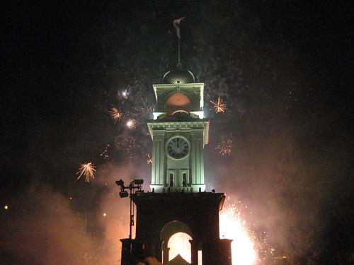 Santa Cruz Clocktower at Midnight