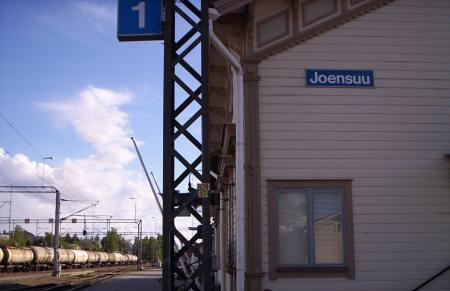 Joensuu, la estación de tren