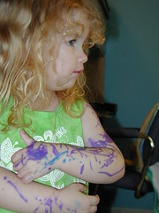 Bi-Chromatic, Double Full-sleeves (MaryJaneIsMe) Tags: family silly tattoo kid colorful marker silliness crayola matchpoint matchpointwinner colorfulstuff
