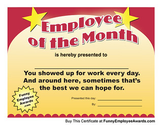 Larry weaver entertainments most recent flickr photos picssr employee of the month certificate yadclub Choice Image