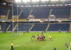 Action at Edinburgh vs Munster Magners League match at Murrayfield