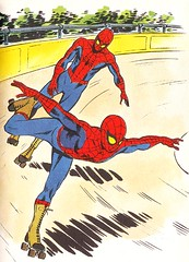 ROLLER SPIDEY (tonto--kidd) Tags: television kids book tv italian cartoon spiderman 1970s childrensbook seventies 1979 handbook chidren saturdaynorning