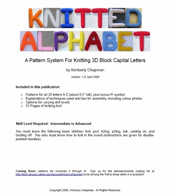 Ravelry: Knitted Alphabet 3D Block Letters pattern by Kimberly Chapman