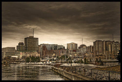 river/skyline HDR