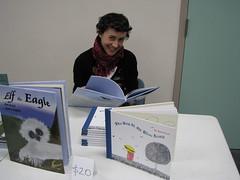 Lisa reading Elf the Eagle