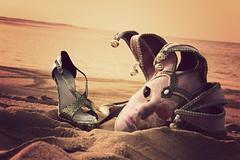 GLAMOUR at the beach (Julie™) Tags: sea beach shoe glamour sand christianlouboutin casanovap lolcasanova