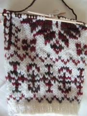 Annemor #16 in progress (Knitting In Public) Tags: mittens kal selbuvotter knitpicks