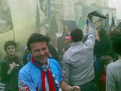 Festa Catania in Piazza Duomo a Milano (calciocatania) Tags: milano duomo monumenti catania tifosi salvezza rossazzurri