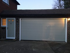 Matching front door and Hormann sectional door. We can colour match to your choice.