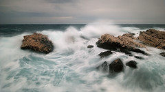 ocean force (H o g n e) Tags: ocean sunset sea sky seascape water rock stone clouds landscape evening coast landscapes spring mediterranean waves seascapes wind dusk shoreline croatia erosion explore shore rough geology adriatic rockformations breakingwaves roughwater explored bildekritikk