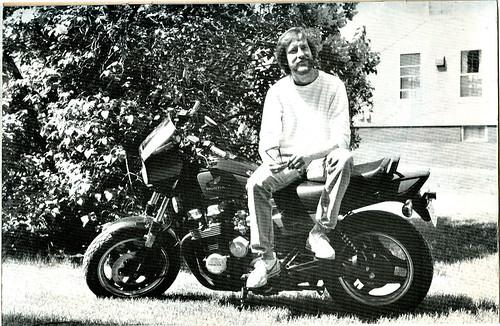 """Bade Biker and Orson"" # 4 pin-up page ..TMNT Comic Legend : Jim Lawson - LEFT LEANIN' RAT WINGER (( 1987 ))"