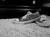 Kick Off Your Shoes And Relax Your Feet (Ciara Montesanto) Tags: grey gray converse chucks dirtyshoes