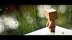 I wanna play outside :( (Melelie) Tags: macro window rain canon outside is dof l 100 danbo danboard