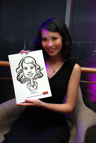 Caricature live sketching for TLC - 10