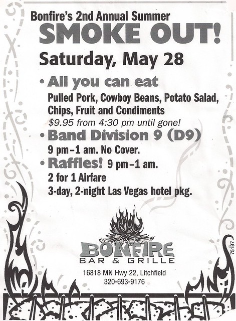 05-28-11 D9 @ Bonfire, Litchfield, MN (Smoke-Out Flyer)0001