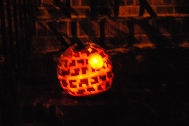 Michael's star wars pumpkin
