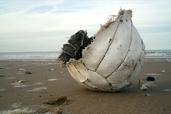 Ripped. (DJ Bass) Tags: abandoned broken sport ball lost football goal fifa tide failure ripped left margate stormdamage fa redundant motd thebeautifulgame 25faves thepremiership sportingfailure