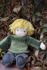 why, hello there! (UncommonGrace) Tags: wool sweater doll handmade waldorfdoll steinerdoll feltcorduroy