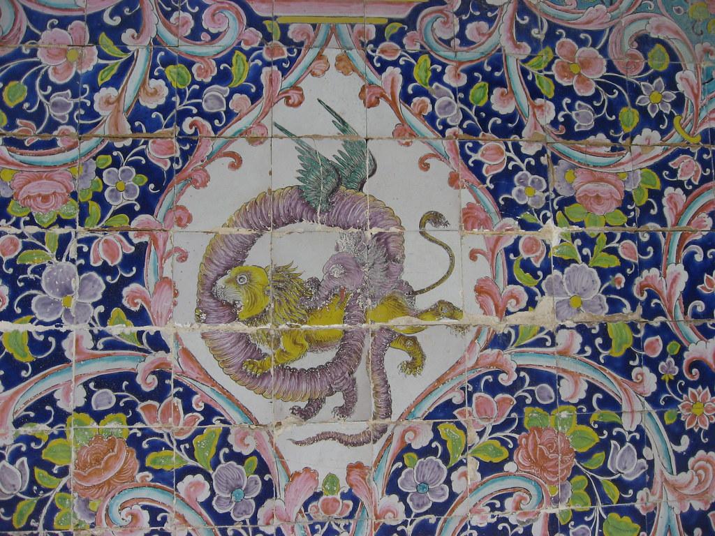 Tile Detail, Golestan Palace, Tehran, Iran