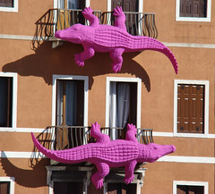 alligators in Venice (cloudsender) Tags: travel venice animals funny venezia viaggi animali lpwindows