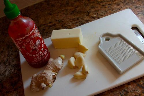 ingredients to make garlic ginger toast