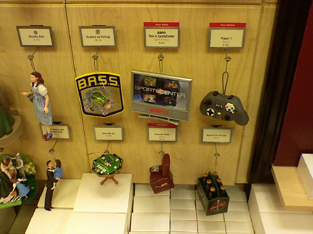 ESPN, BASS and game controller ornaments
