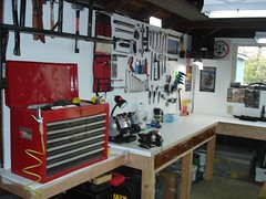 Brandon's tool board in the Man Cave 023 (Brandon448) Tags: bicycle workshop mancave parktool toolboard