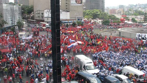 foto  marcha chavista