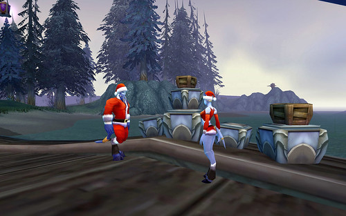 Exodar NPCs and their Winter Veil Get-ups