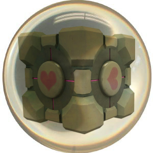 Weighted Companion Cube Bowling Ball