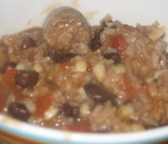 Black Bean and Sausage stovetop casserole