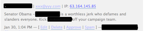 Comment Spam from a Kinkos