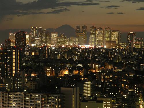 新宿方面夕景