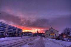 Sunrise on Vanha Porvoontie