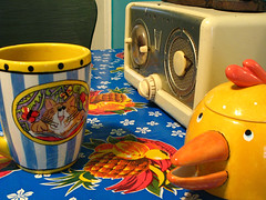 Kitchen kitsch (kevin dooley) Tags: old blue favorite bird cup kitchen coffee beautiful yellow radio wow am interesting fantastic colorful flickr pretty very good gorgeous awesome award superior kitsch super best sugar most winner stunning mug excellent jar much incredible breathtaking exciting fashioned phenomenal