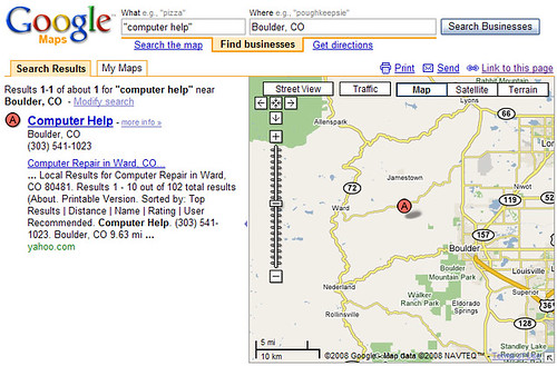 Addressless Business Listing in Google Maps