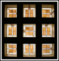 unity temple 2 (eYe_image) Tags: abstract ceiling franklloydwright skylights oakparkillinois unitytemplechurch