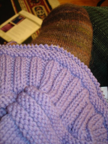 Crafting 365.24 - Knitting with the sick