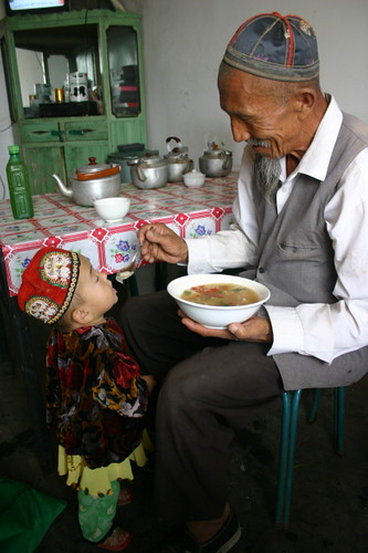 Uyghurs in a muslim restaurante by Bertrand Linet