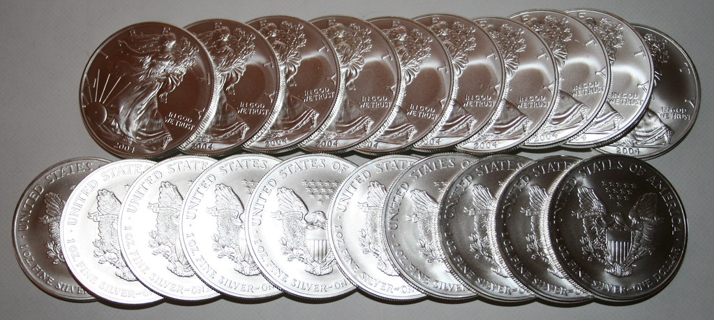 20 Silver US Eagles