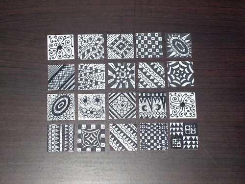 My First Ever Inchies + Zentangles