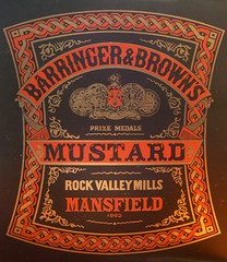 Mustard 03 (Cristian Mantovani) Tags: rock vintage typography design graphic browns valley type condiment mustard boxes choice lettering mills mansfield barringer admiture
